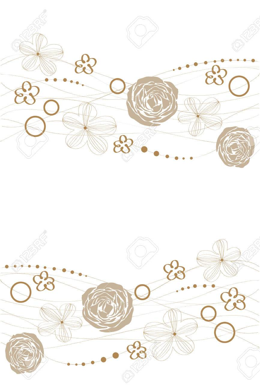 Cute butiful vector flower design on white background Stock Vector - 8955320
