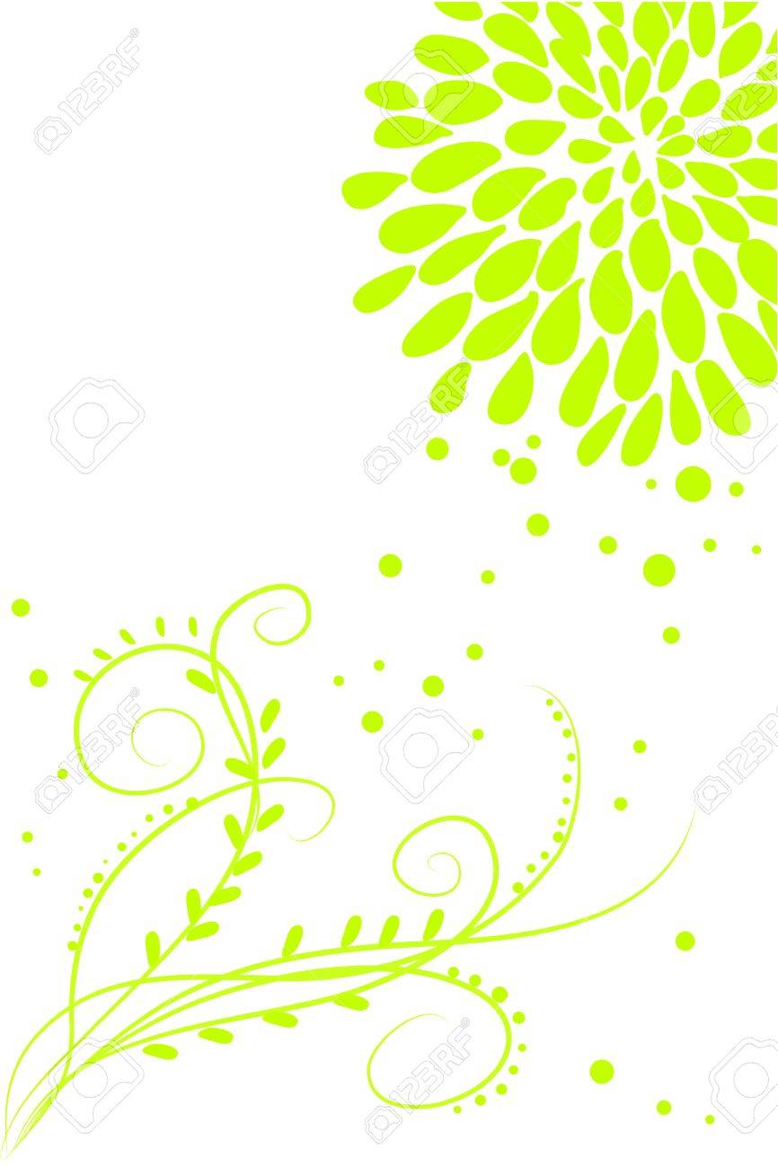 Cute butiful vector flower design on white background Stock Vector - 8955308
