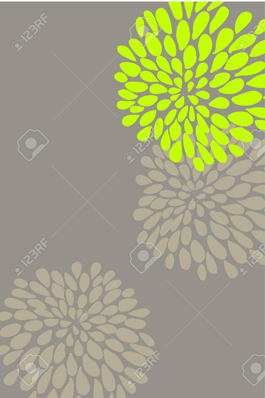 Cute butiful vector flower design on brown background Stock Vector - 8955309