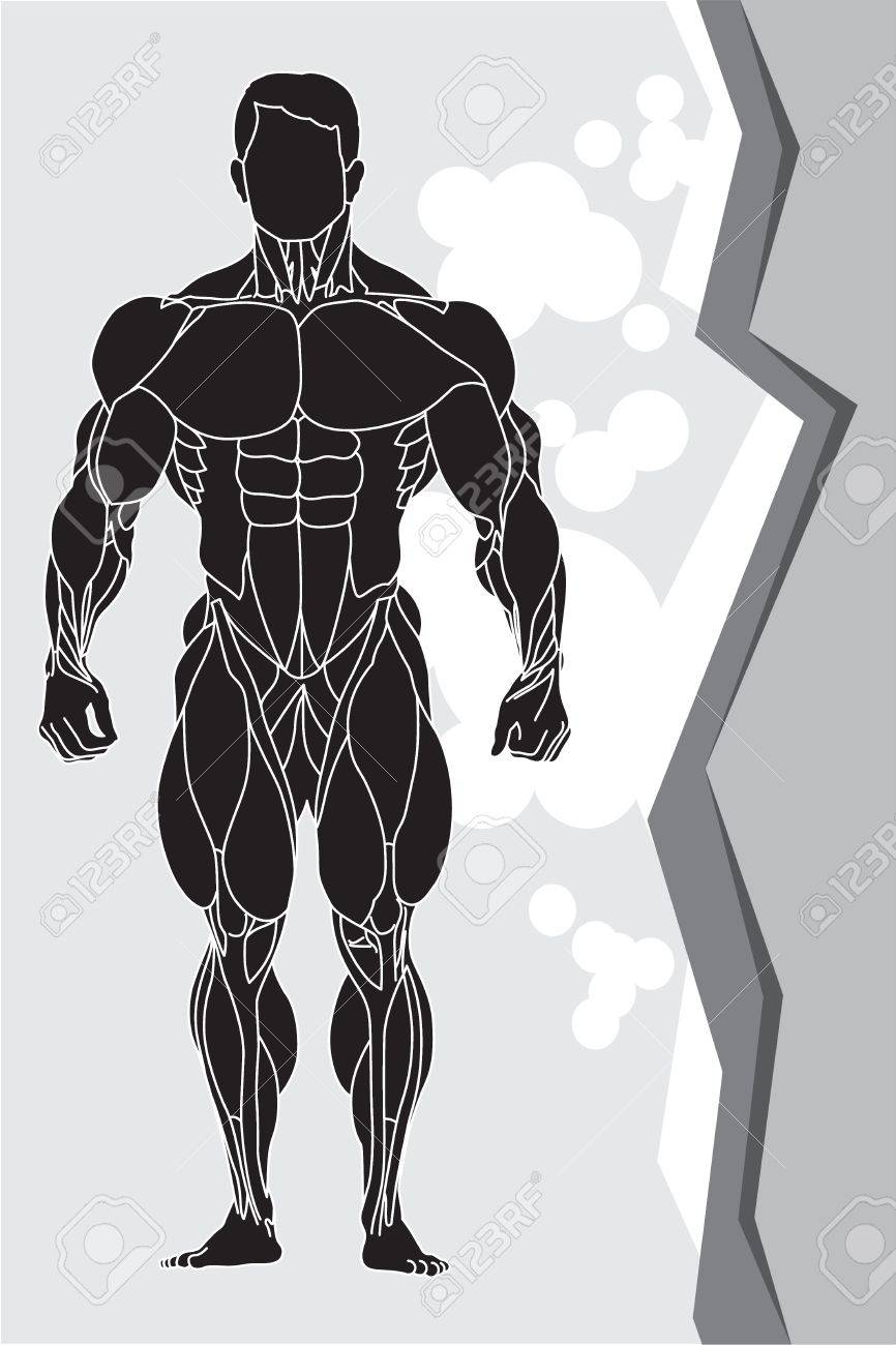 a strong man silhouette Stock Vector - 9550407