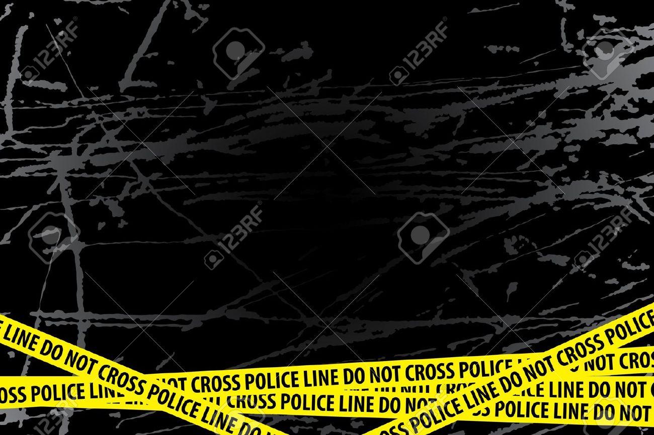 Police line (do not cross) on black background Stock Vector - 9624014