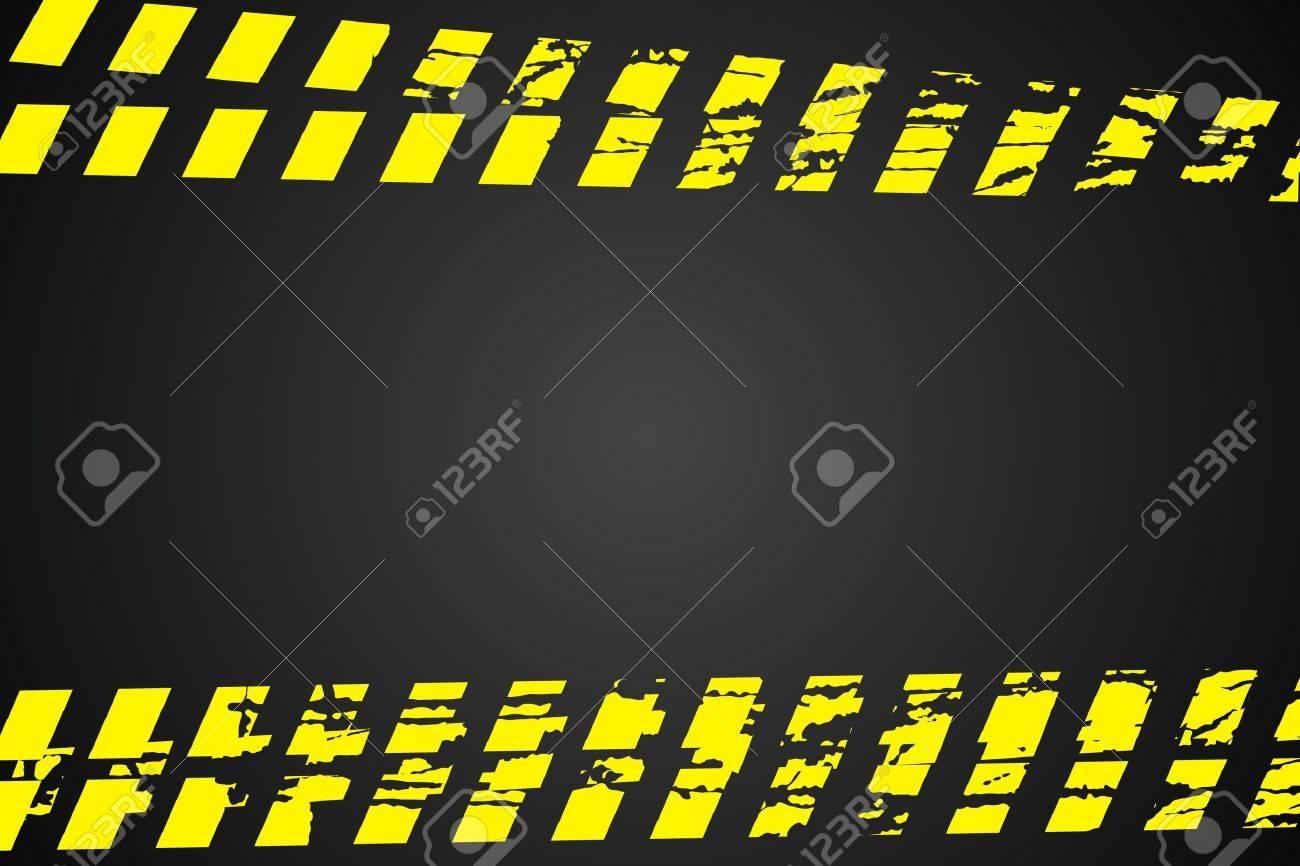 Police line (do not cross) on black background Stock Vector - 9624009