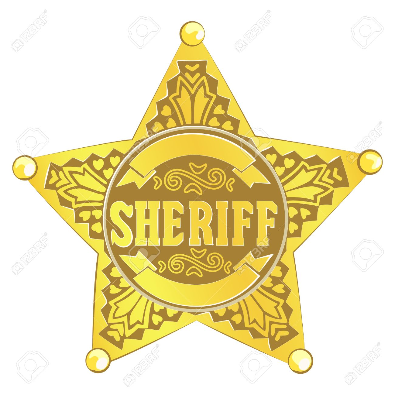gold vector sheriff star on white background royalty free cliparts rh 123rf com sheriff badge vector free sheriff badge vector art