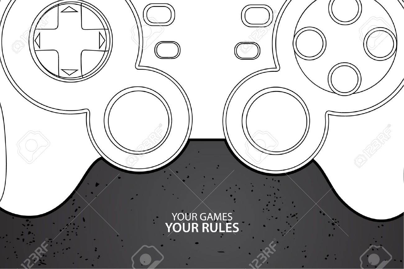 Vector console or PC joystick on black background Stock Vector - 10503092