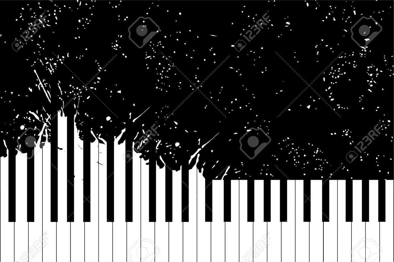 Vector piano keyboard on black background (illustration) Stock Vector - 10602169
