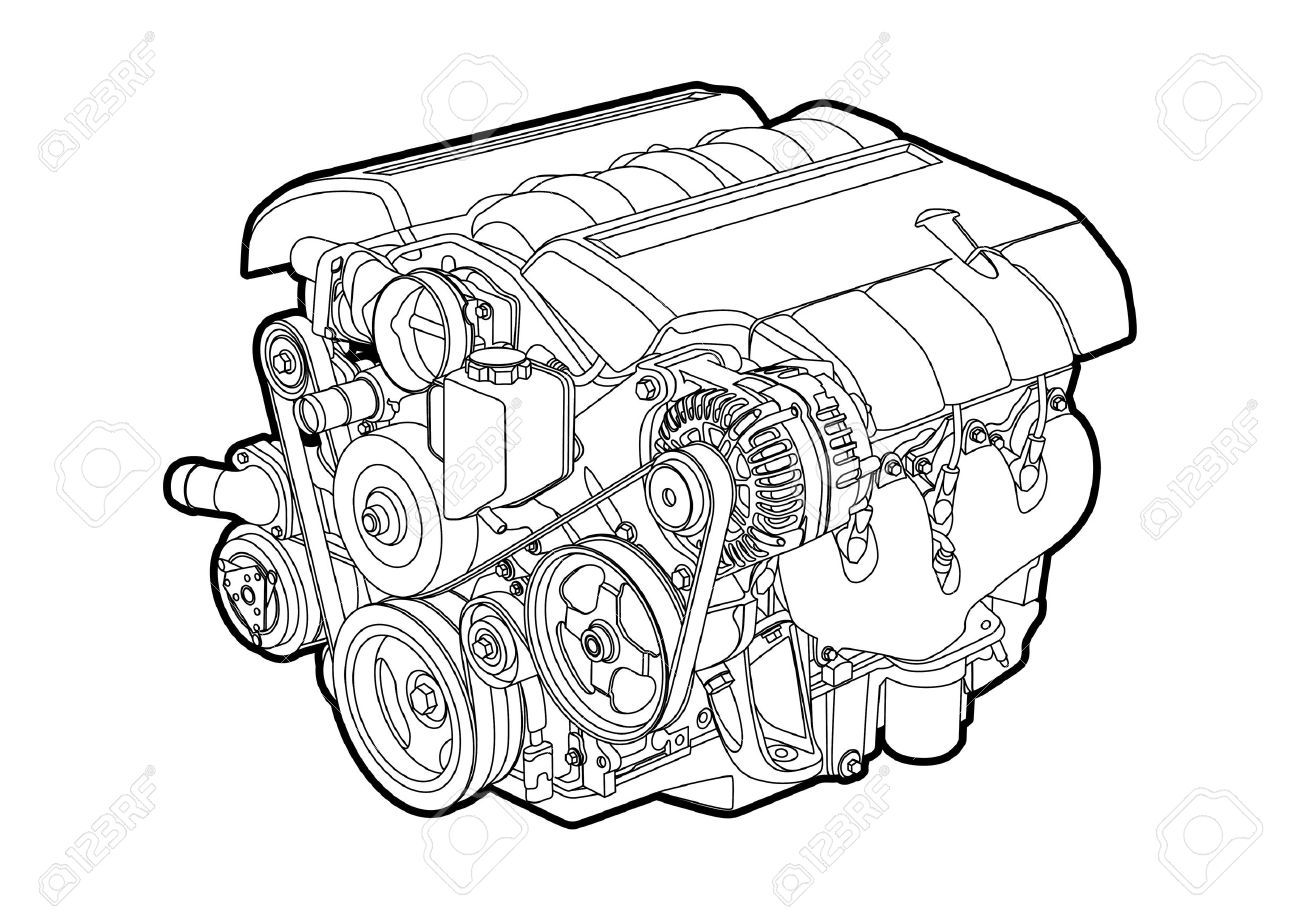 Engine Royalty Free Cliparts, Vectors, And Stock Illustration. Image ...