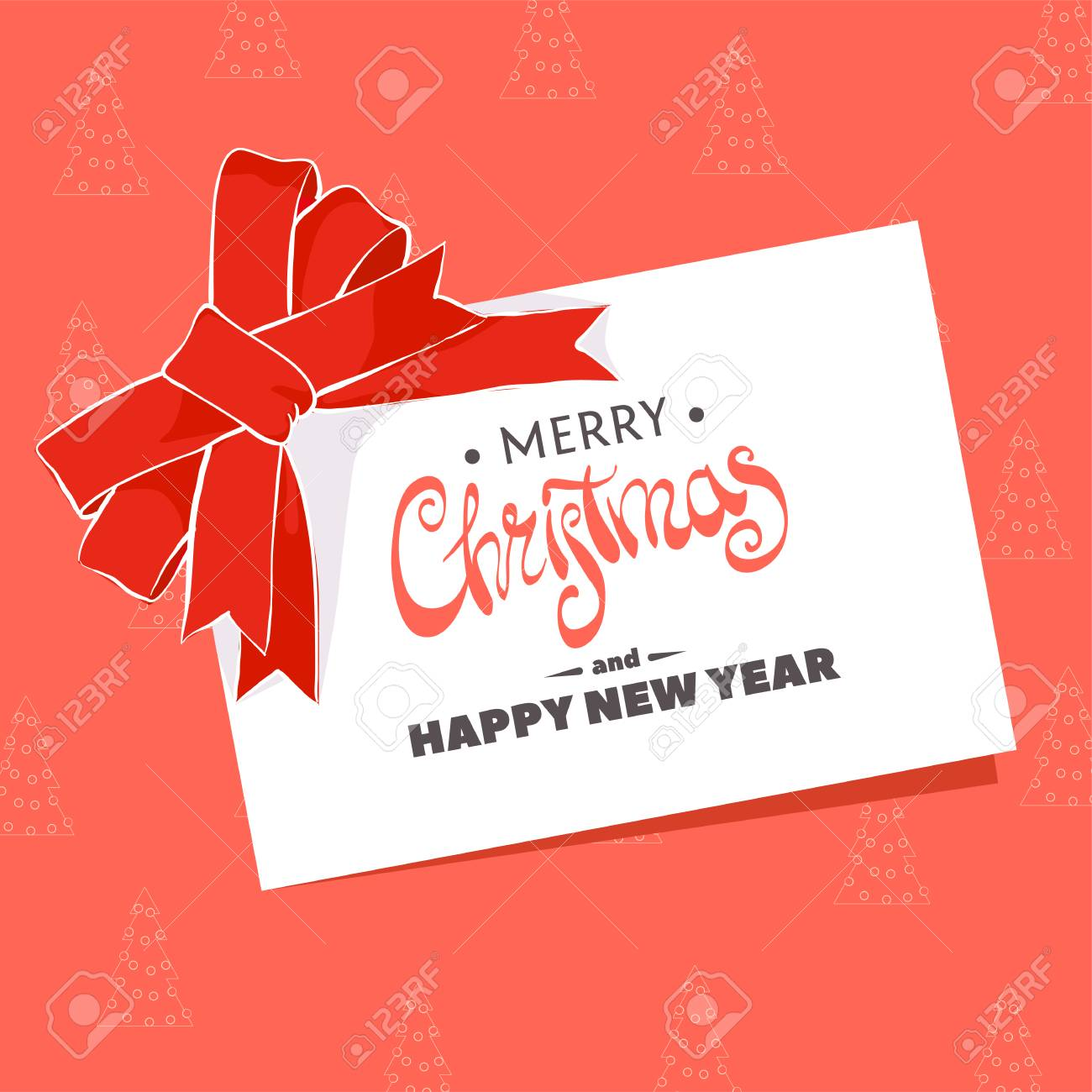 Christmas greeting card with the words merry christmas on a red christmas greeting card with the words merry christmas on a red background stock vector 68959680 m4hsunfo
