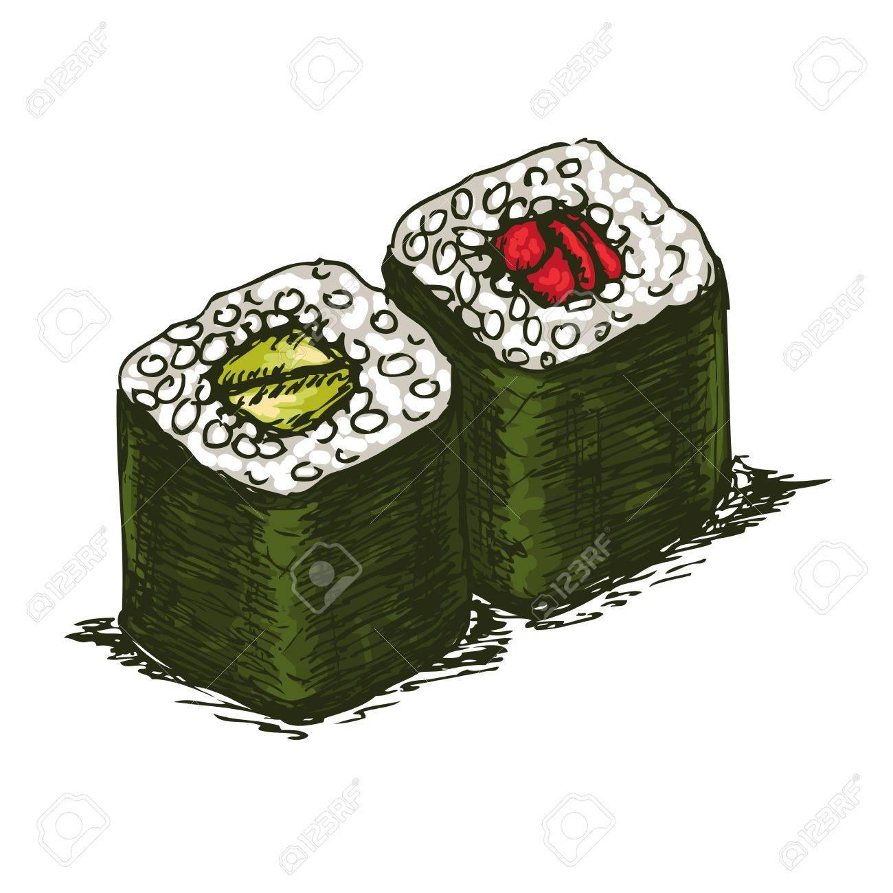 Tasty rolls isolated over white bachkground, vector illustration. Stock Vector - 12014273