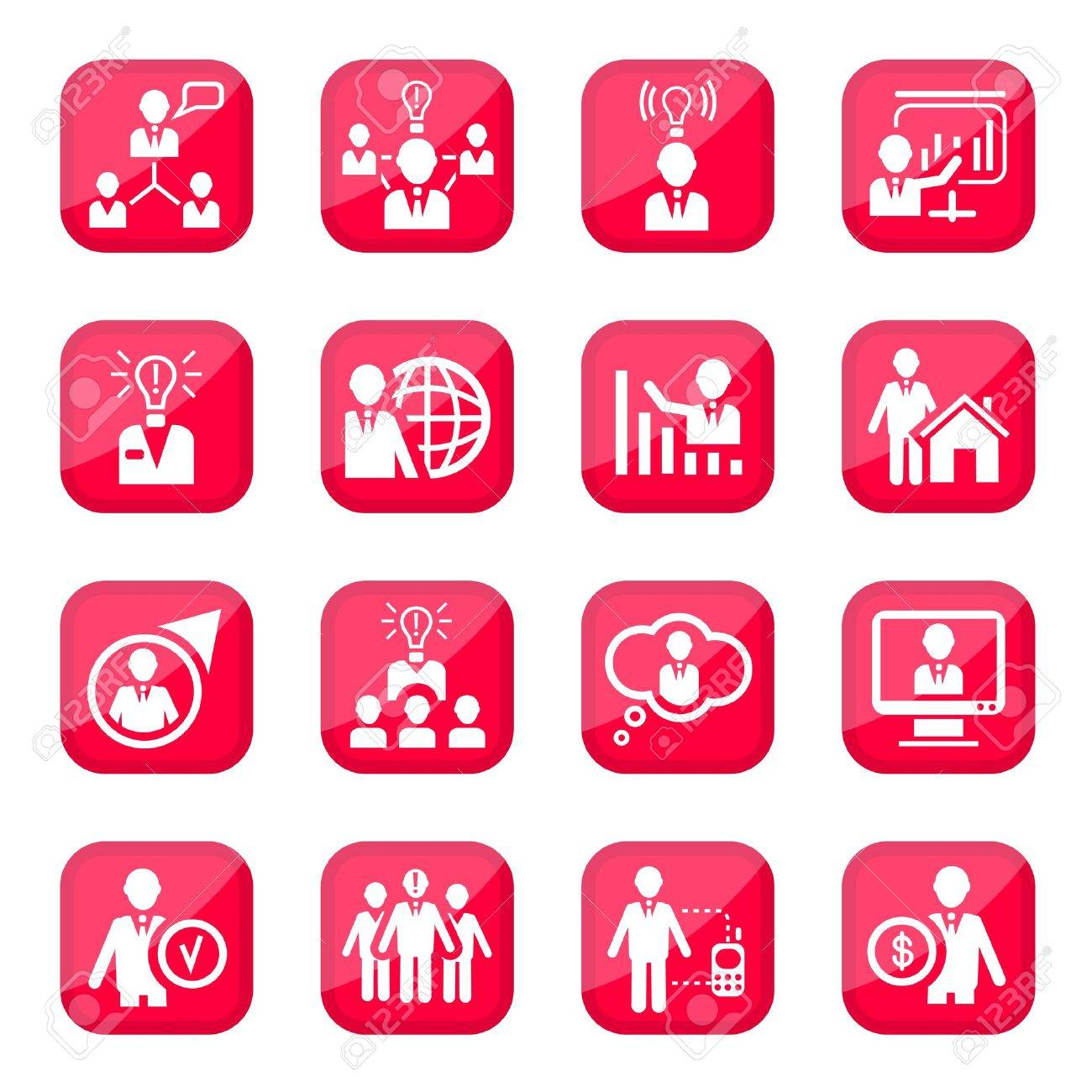 Human Resources Icon Set for web and mobile  All elements are grouped Stock Vector - 14887182