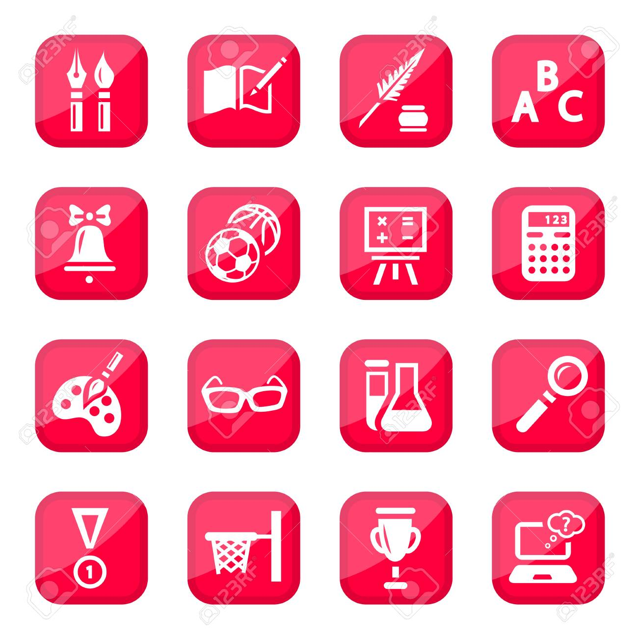 Black School  Icon Set for web and mobile  All elements are grouped Stock Vector - 14887187