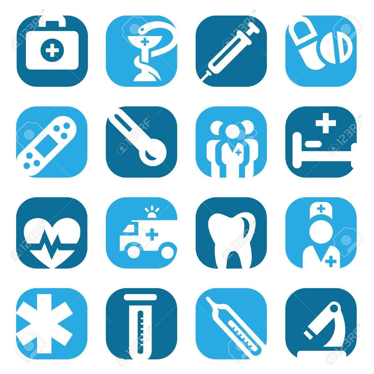 Elegant Colorful Medical Icons Set Created For Mobile, Web And Applications Stock Vector - 18394530