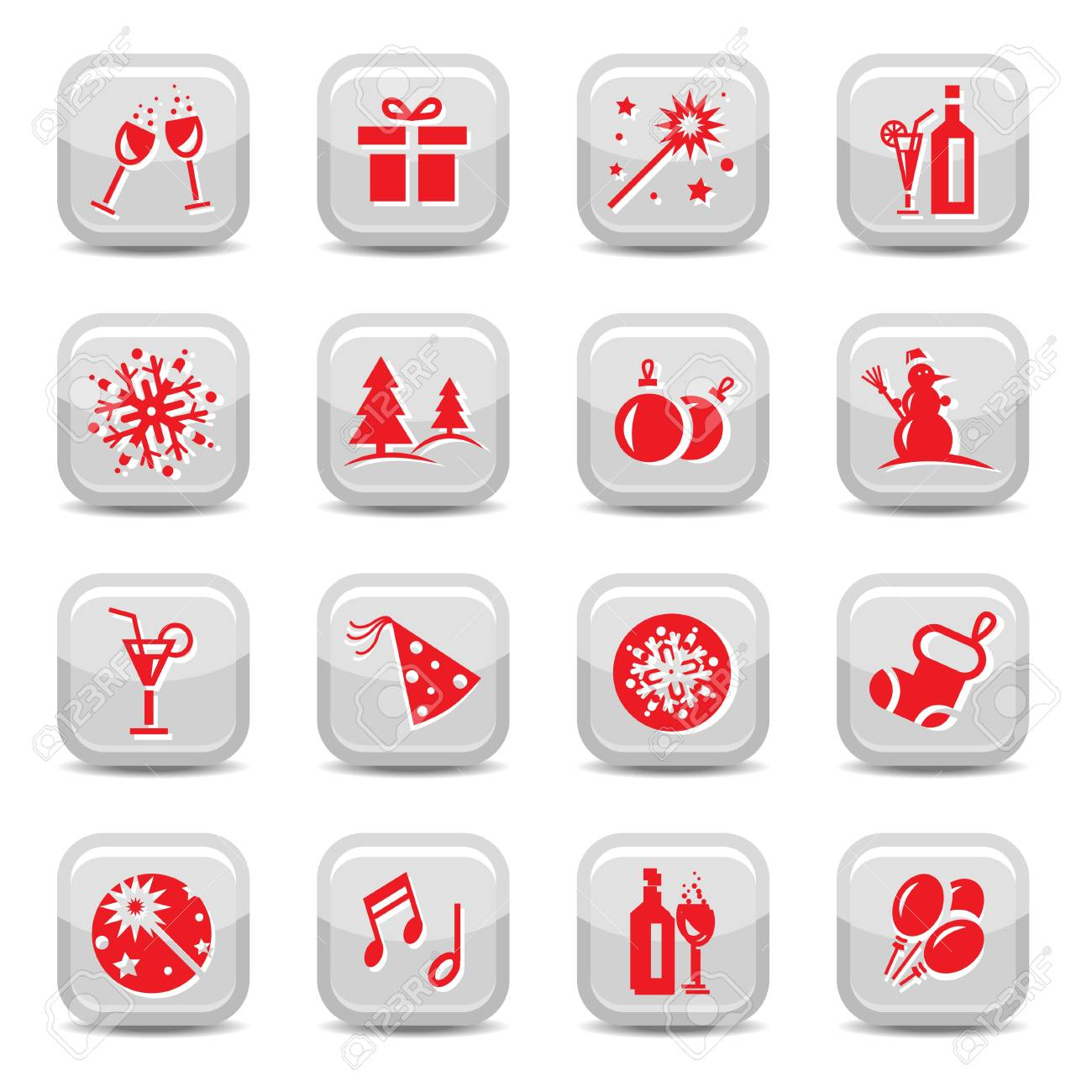 Celebrate Icon Set for web and mobile. All elements are grouped. Stock Vector - 18621276