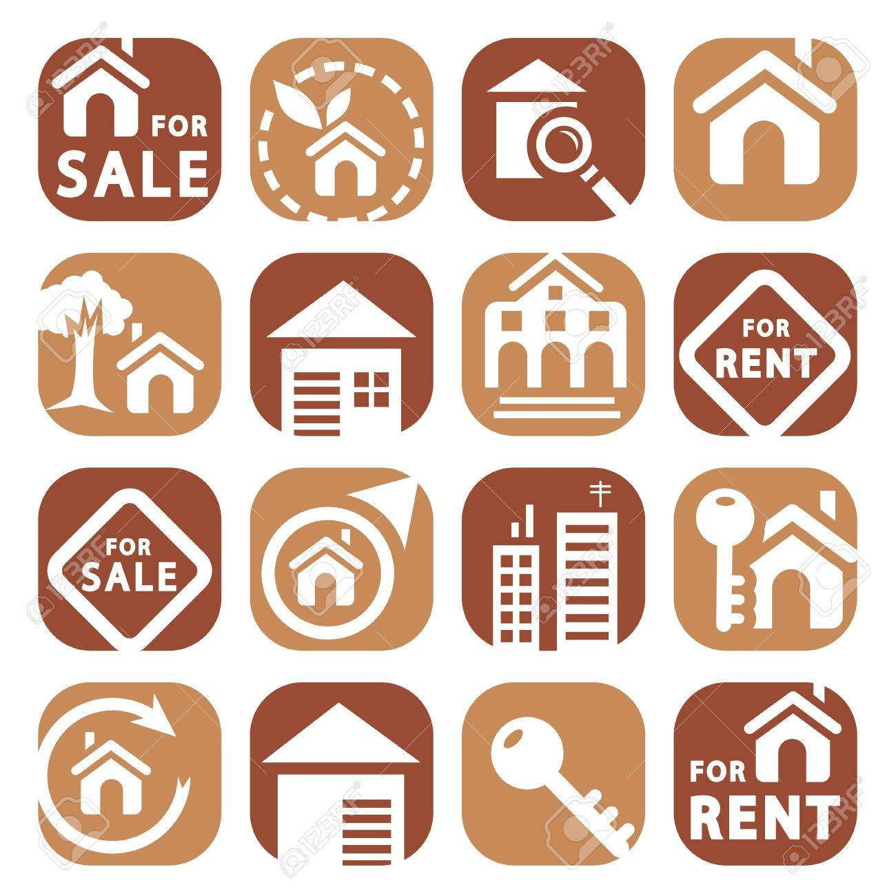 Color Building Icons Set Created For Mobile, Web And Applications Stock Vector - 20216010