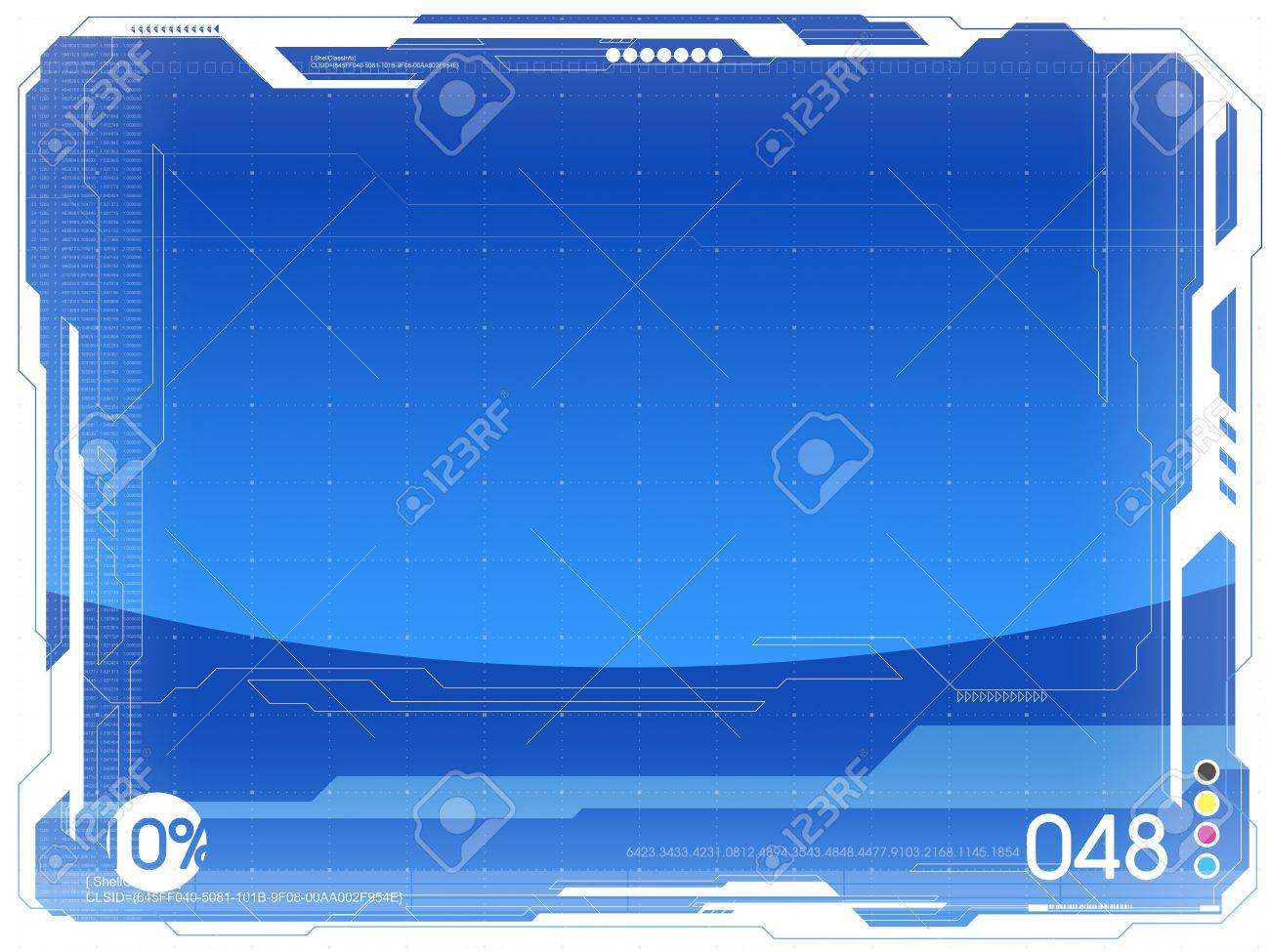 Seria of very big blank backgrounds. Blue tone variation Stock Photo - 631671