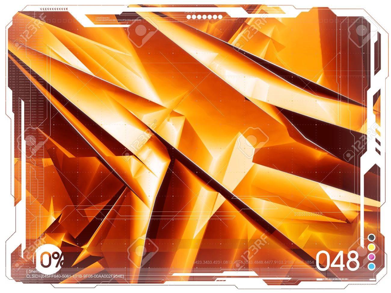 Seria of very big blank backgrounds. Orange tone variation Stock Photo - 631672