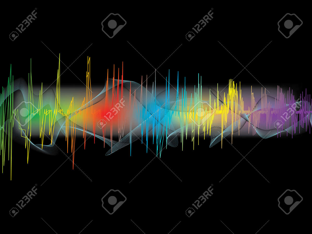 Music waves. Stock Vector - 10280319
