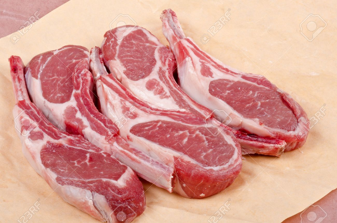 Raw Lamb Chops Stock Photo, Picture And Royalty Free Image. Image ... for Lamb Steak Raw  575cpg