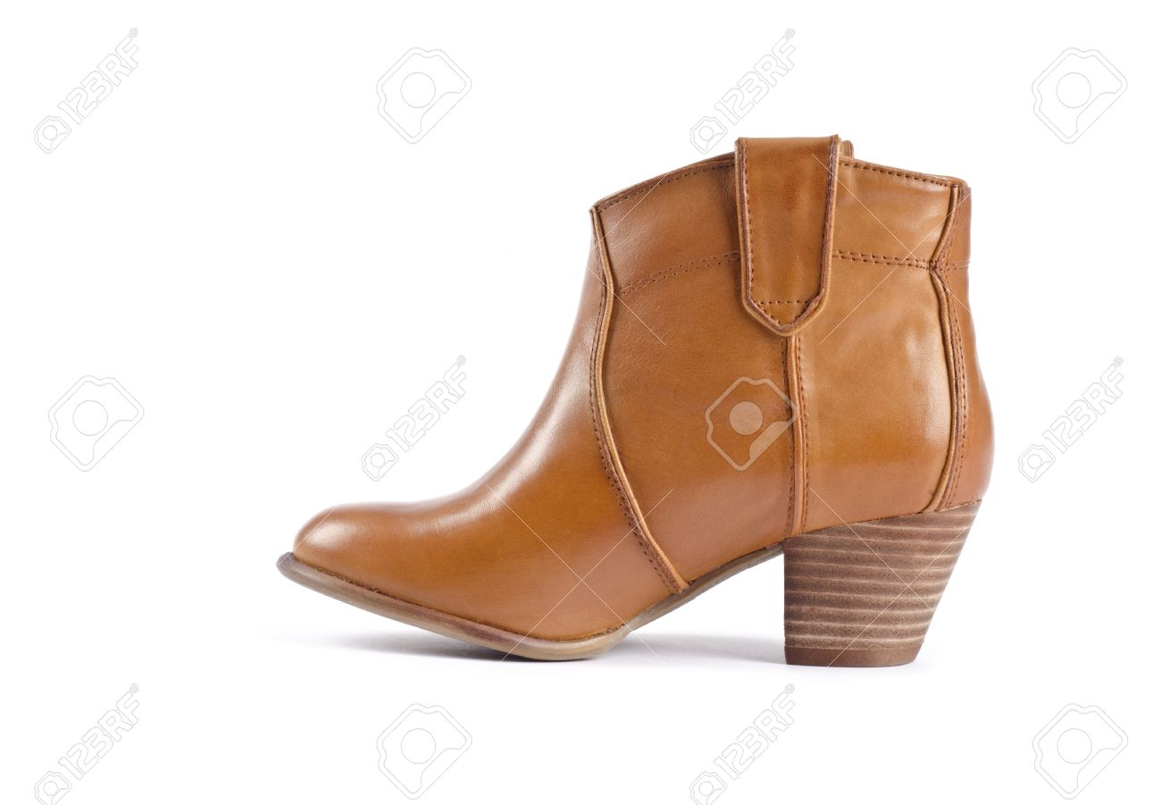 Women S Ankle Cowboy Boots Isolated On White Stock Photo, Picture ...