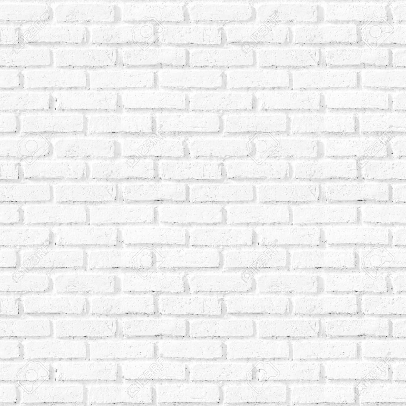 Bathroom pattern concept: Seamless vertical white brick wall texture background - 156216268