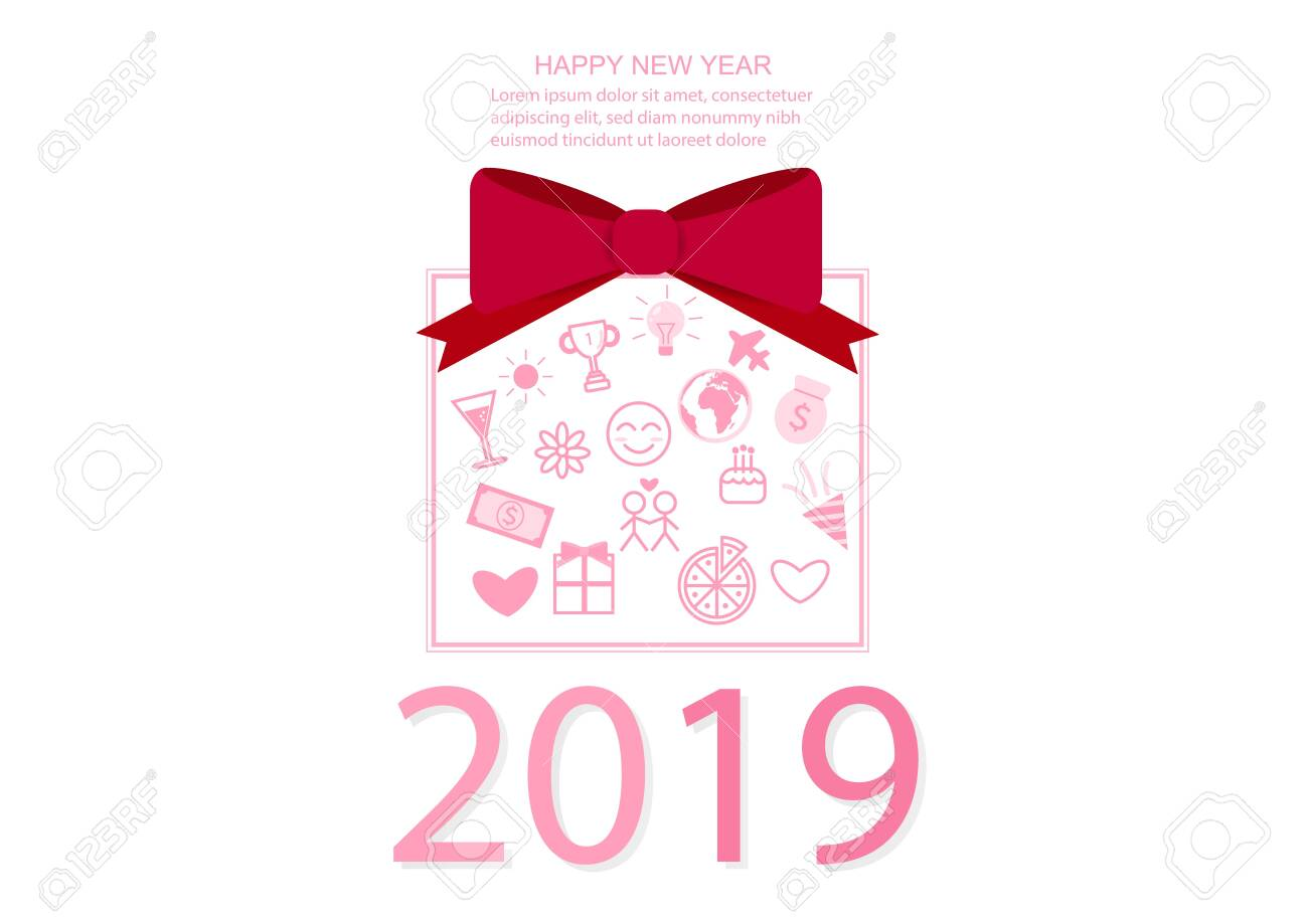 new year 2019 vector design card poster wallpaper background..