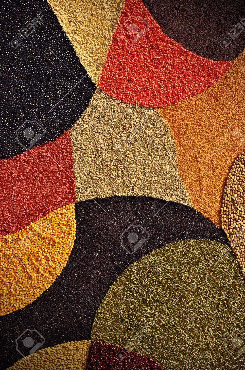 Colorful seeds background Stock Photo - 12323678