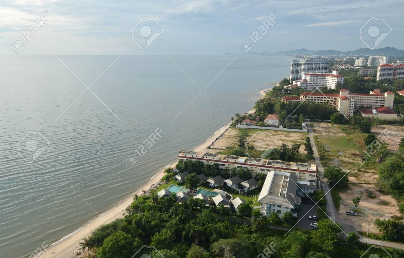 Top view of the beach. Thailand, Hua Hin Stock Photo - 16350507