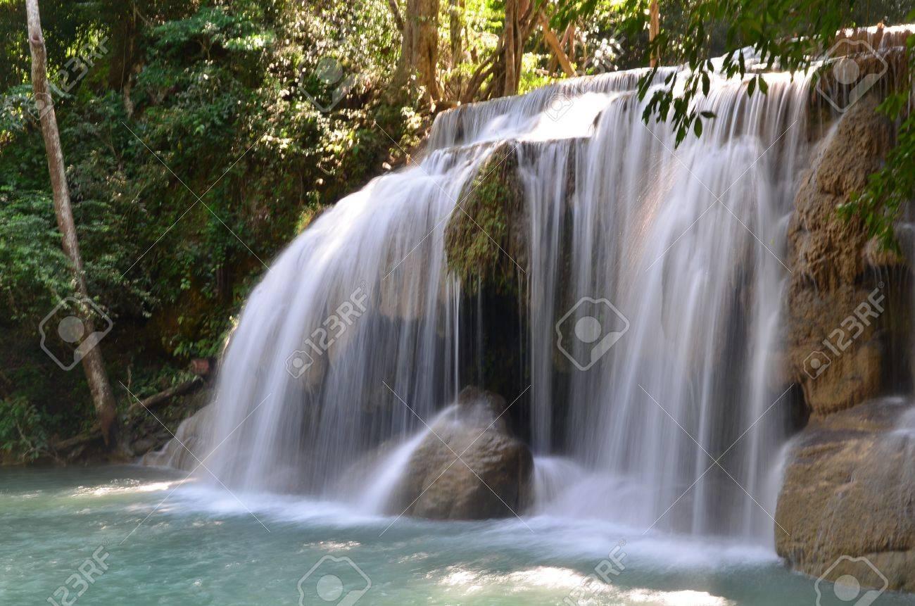 Watefall at Erawan national park Stock Photo - 17270502