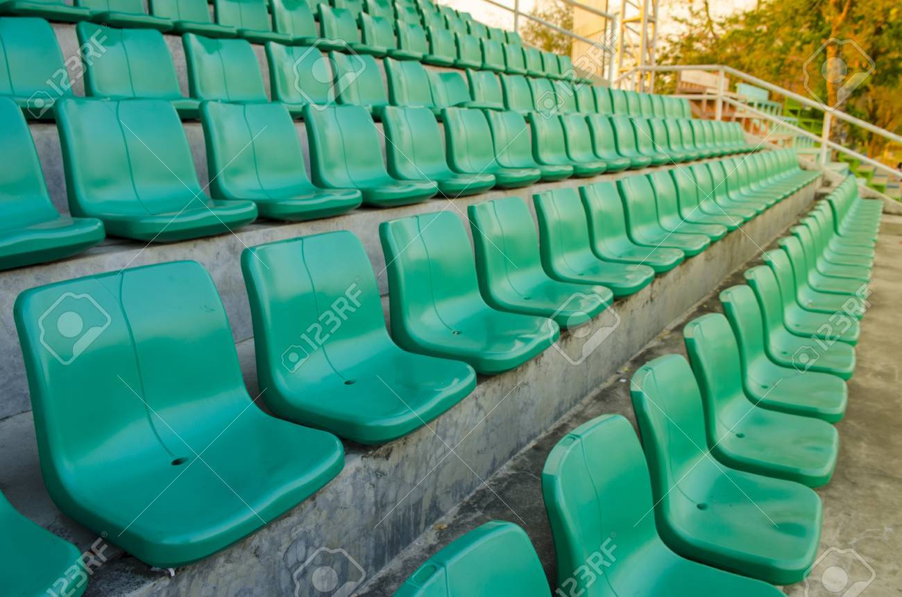 Temporary green color grand seat