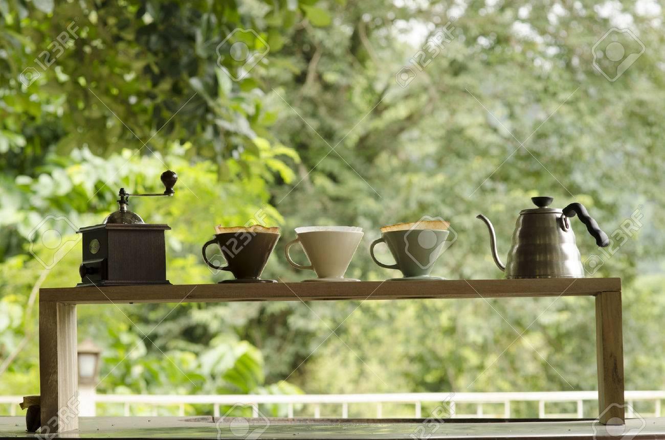 Kits for making fresh coffee. - 25414425