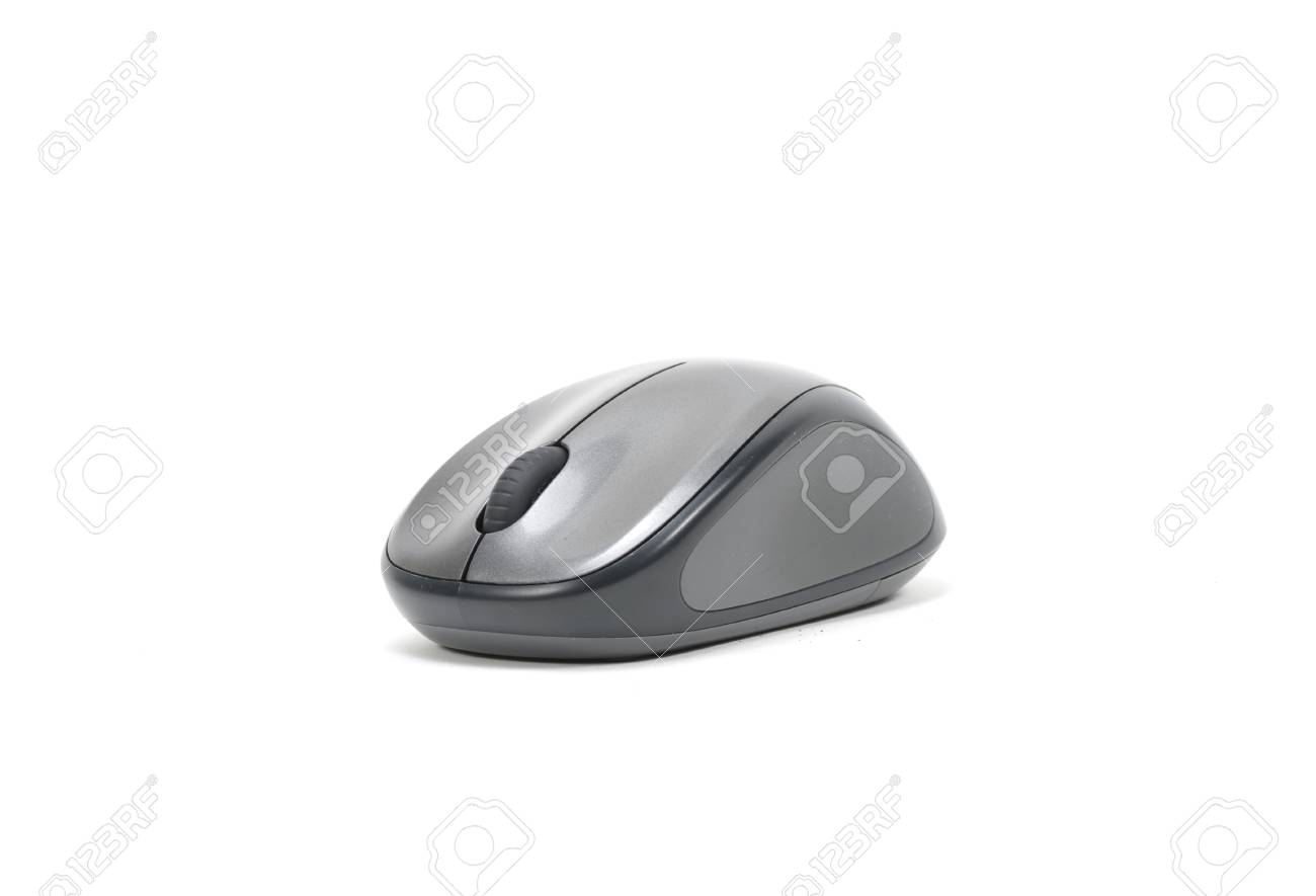7a4bdff7d91 Wireless computer mouse isolated on white background Stock Photo - 26838574