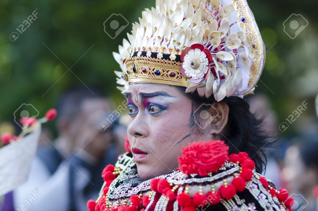 Denpasar Bali Indonesia June 18 Unidentified Dancer Of Balinese