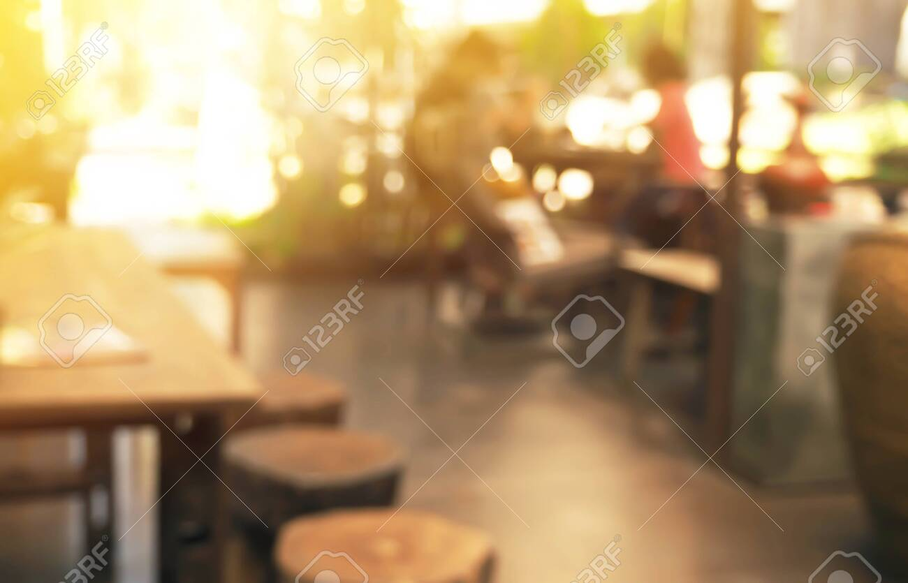 coffee shop blur style for background - 137403512