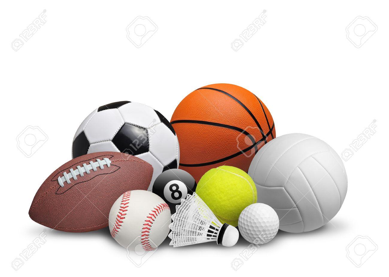 Set Of Sport Balls Isolated On White Background Stock Photo