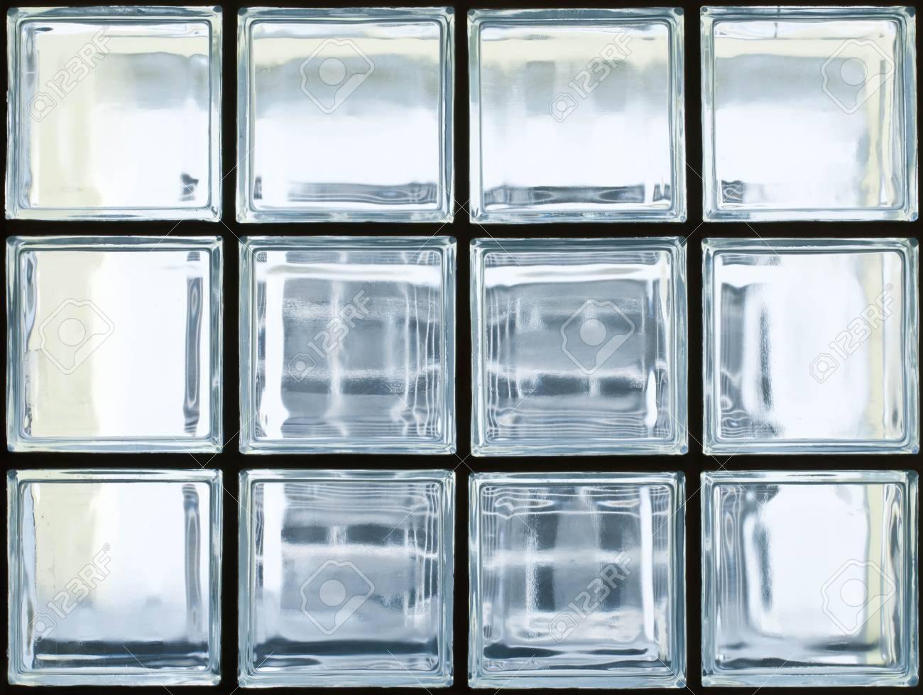 Modèle de mur briques de verre.