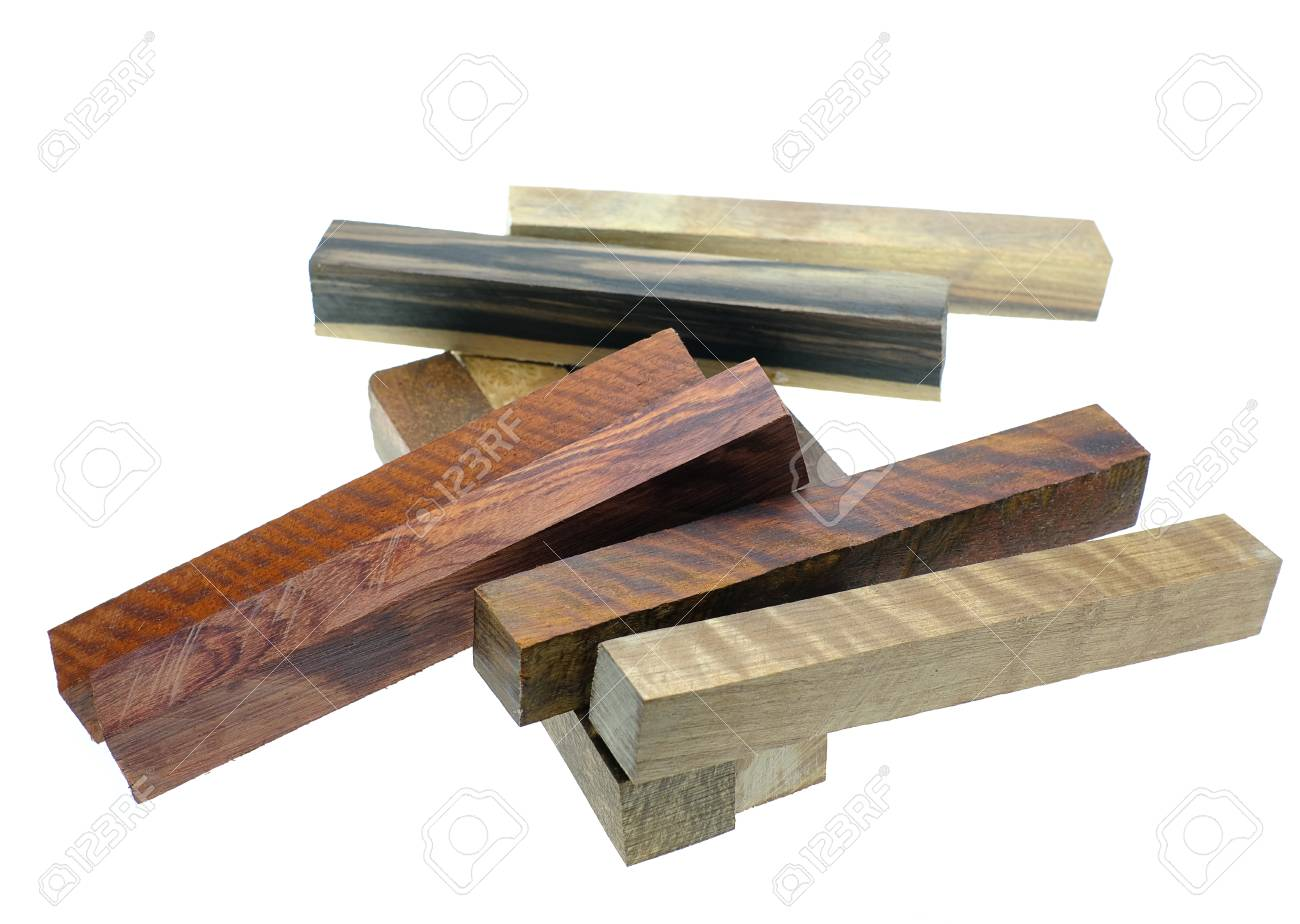 Set Exotic wood real for blanks pen and diy