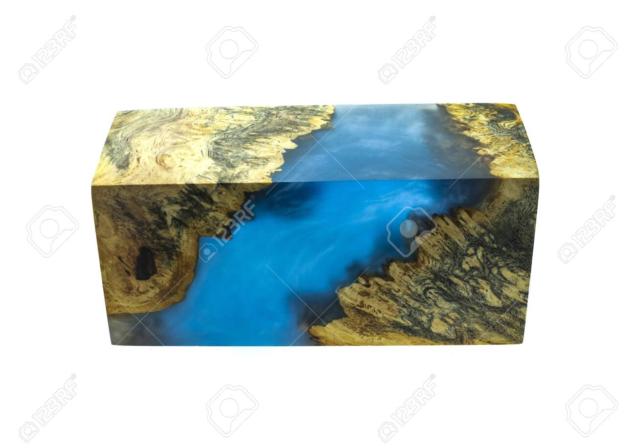 Casting epoxy resin Stabilizing burl Afzelia wood color abstract