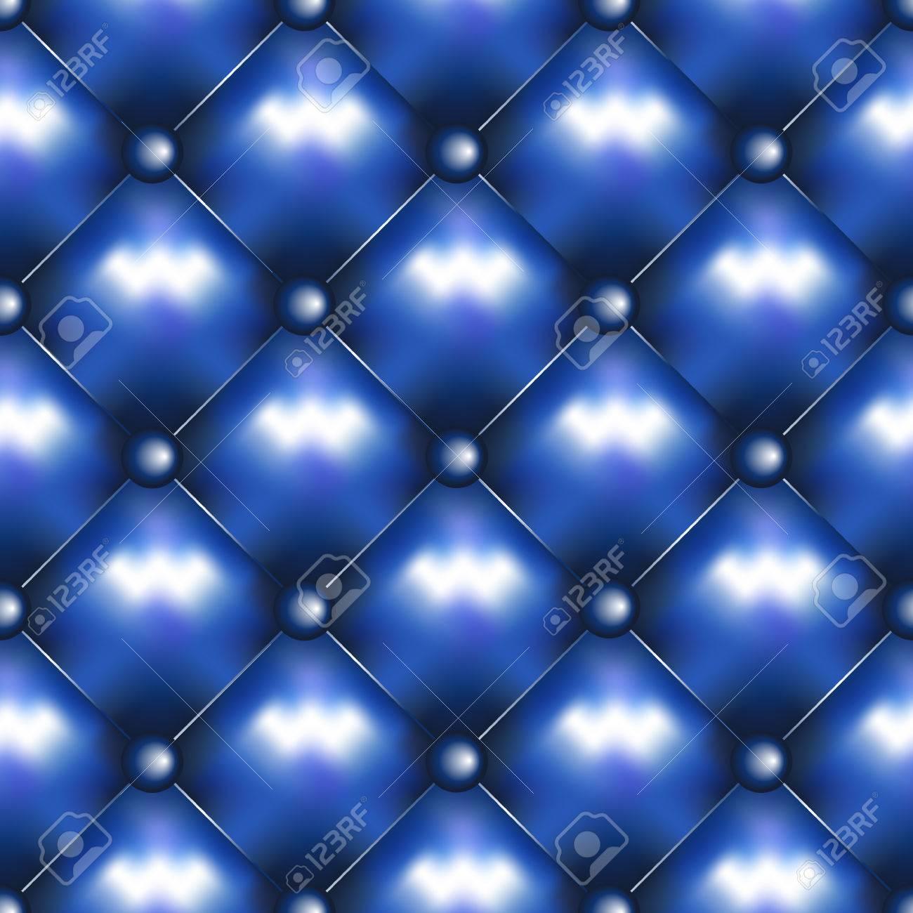 Texture Pelle Divano.Pelle Vector Background Senza Soluzione Di Continuita Divano Appuntato O Texture Divano In Pelle Disegno E Pulsanti Blu Decorazione Rhombus