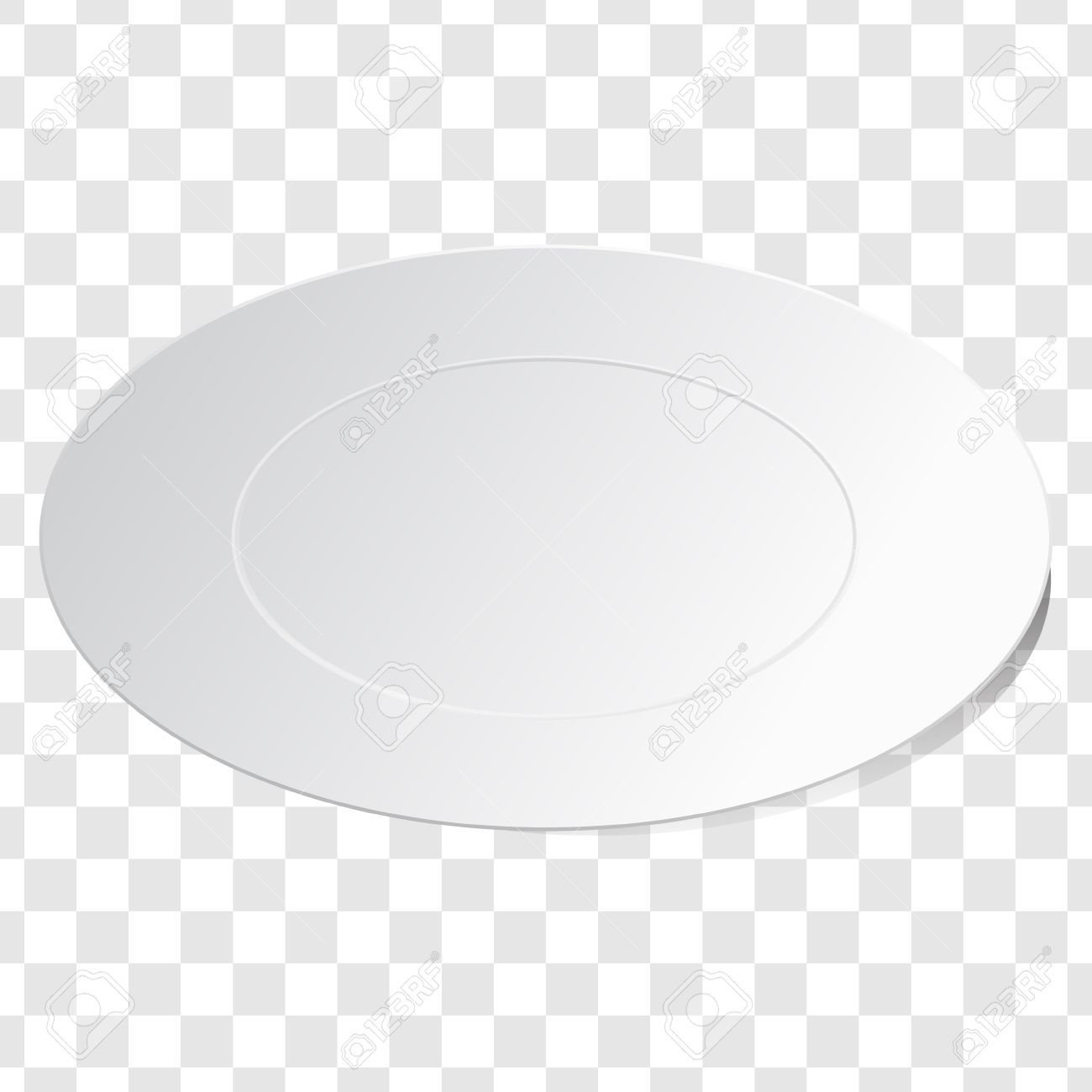 Empty white dish plate background. Vector round dinner plate. Illustration on transparent background.  sc 1 st  123RF.com & Empty White Dish Plate Background. Vector Round Dinner Plate ...