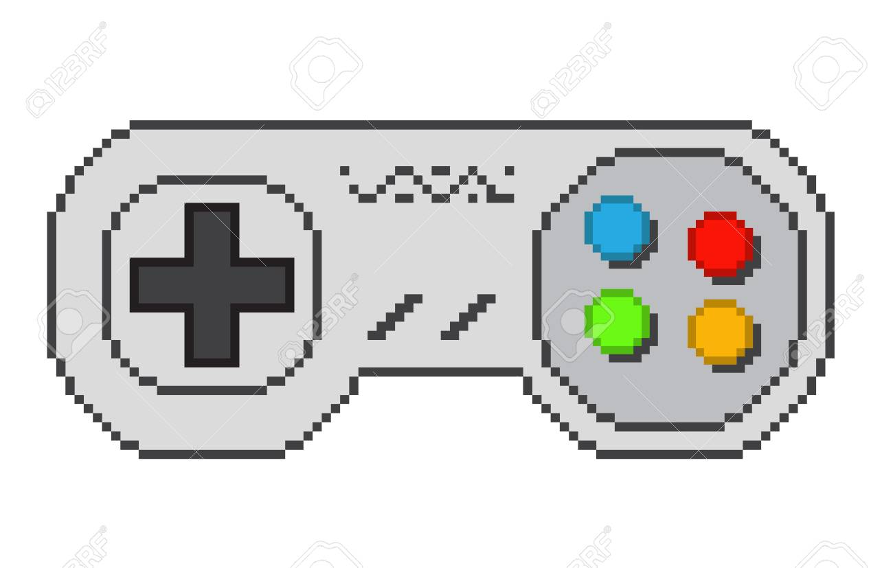 104792415-vector-pixel-art-8bit-illustration-of-a-retro-video-game-controller-isolated-on-white- Pixel Art Video @koolgadgetz.com.info