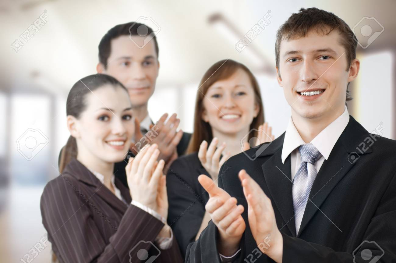 team of successful smiling young business people Stock Photo - 4854052