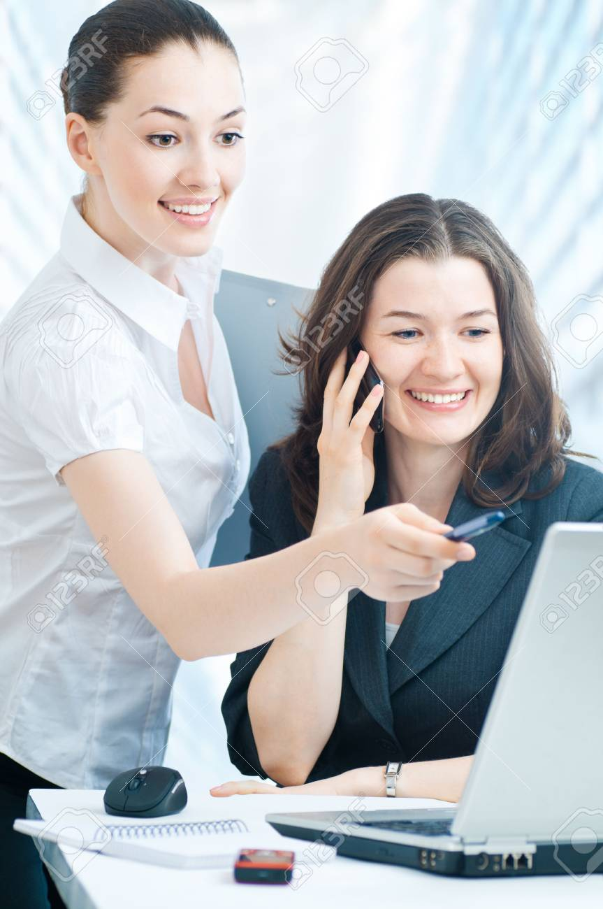 team of successful smiling young business people Stock Photo - 5144760