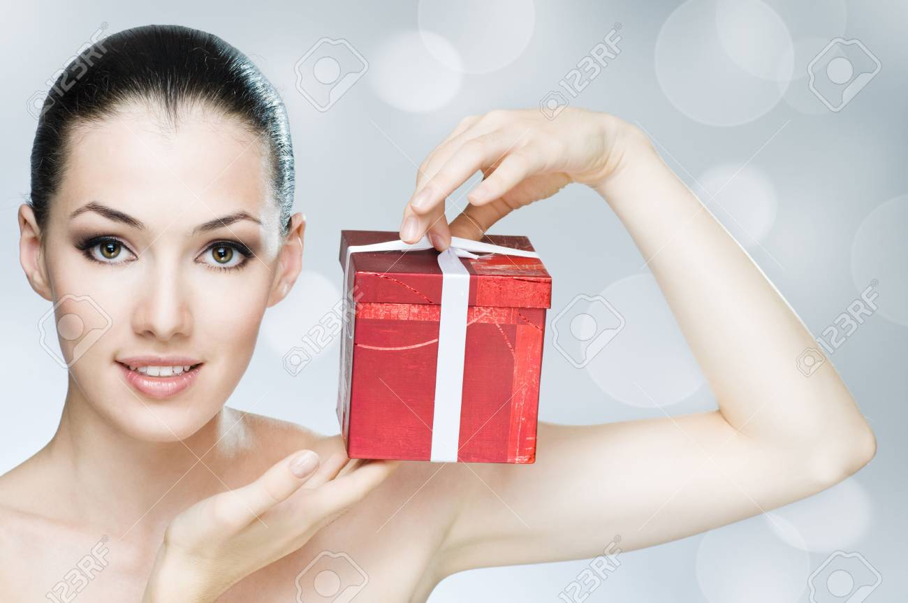 beauty girl on the grey background Stock Photo - 5582803