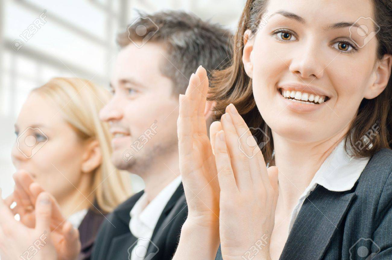 team of successful smiling young business people Stock Photo - 6457762