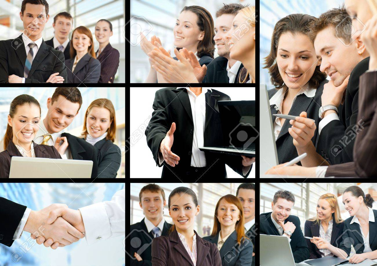 working team of successful young business people Stock Photo - 7110390