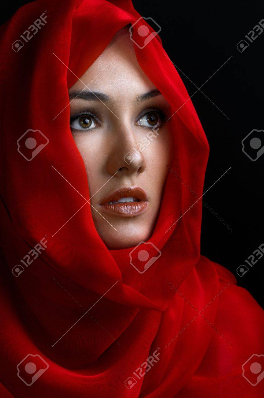 a beauty girl on the black background Stock Photo - 7435544
