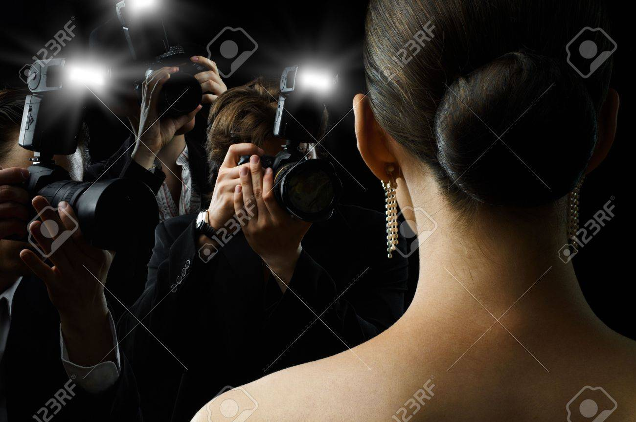 Photographers are taking a picture of a film star Stock Photo - 7592724