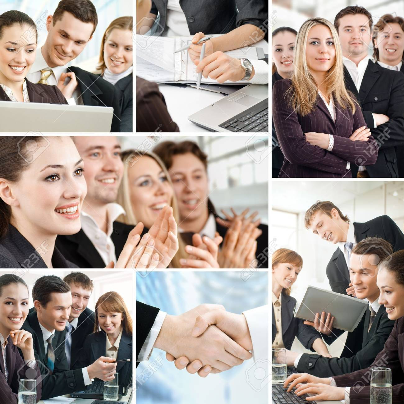 team of successful smiling young business people Stock Photo - 9998570