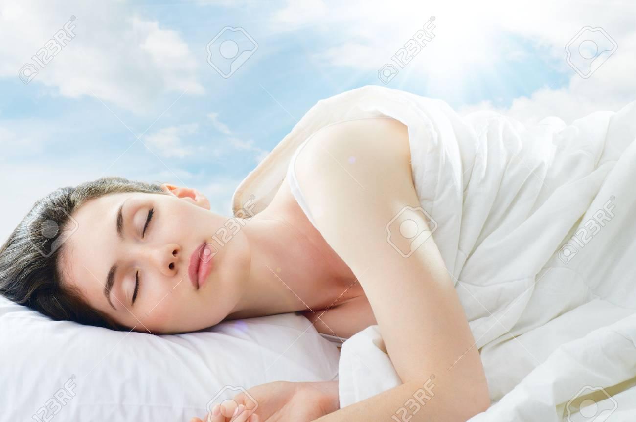 beautiful girl sleeps in the bedroom Stock Photo - 10345314
