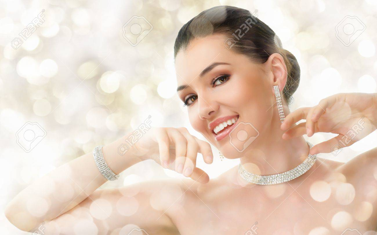 portrait of beautiful woman with jewelry Stock Photo - 11260493