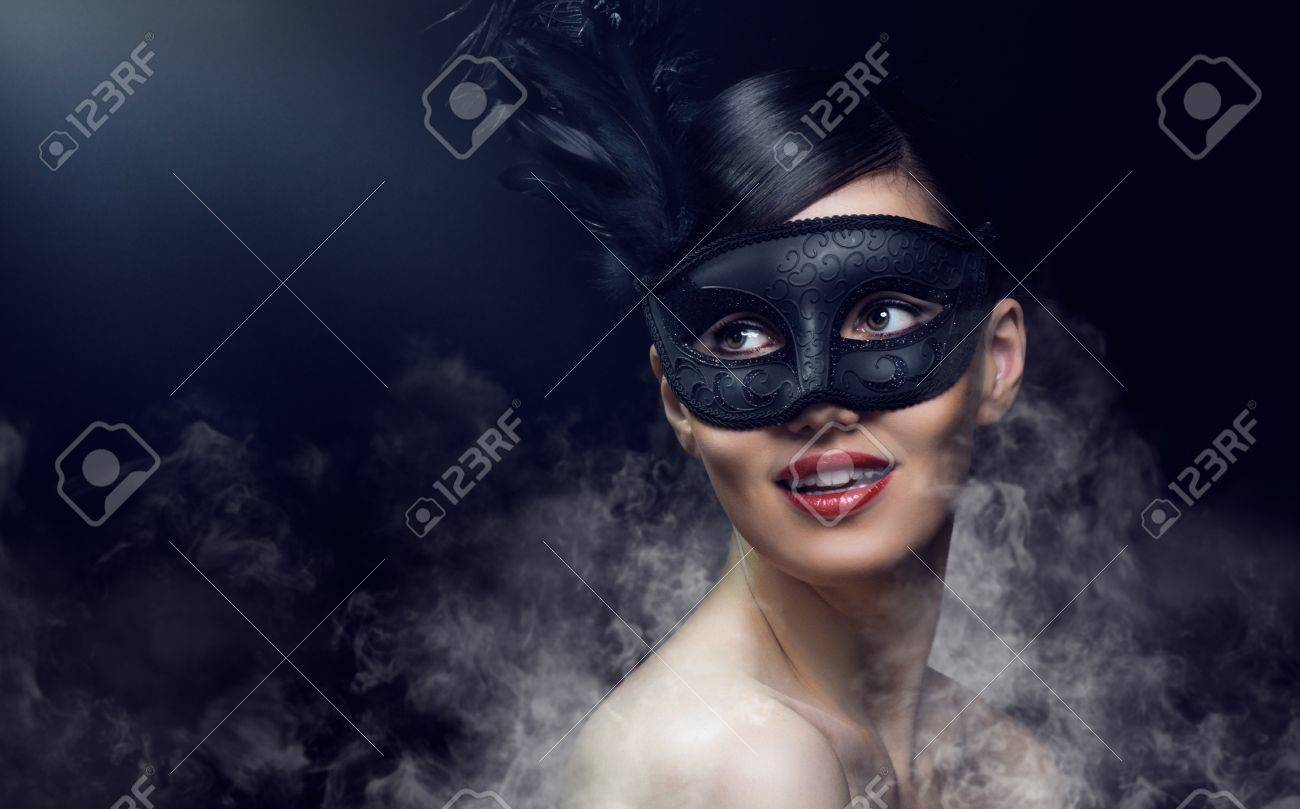 cute girl in masquerade mask Stock Photo - 11713575
